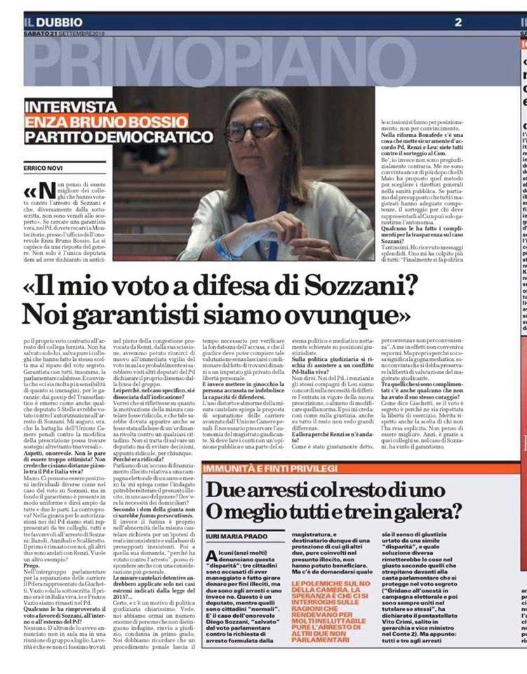 Il caso Sozzani e la lezione sul valore delle libertà in uno Stato democratico