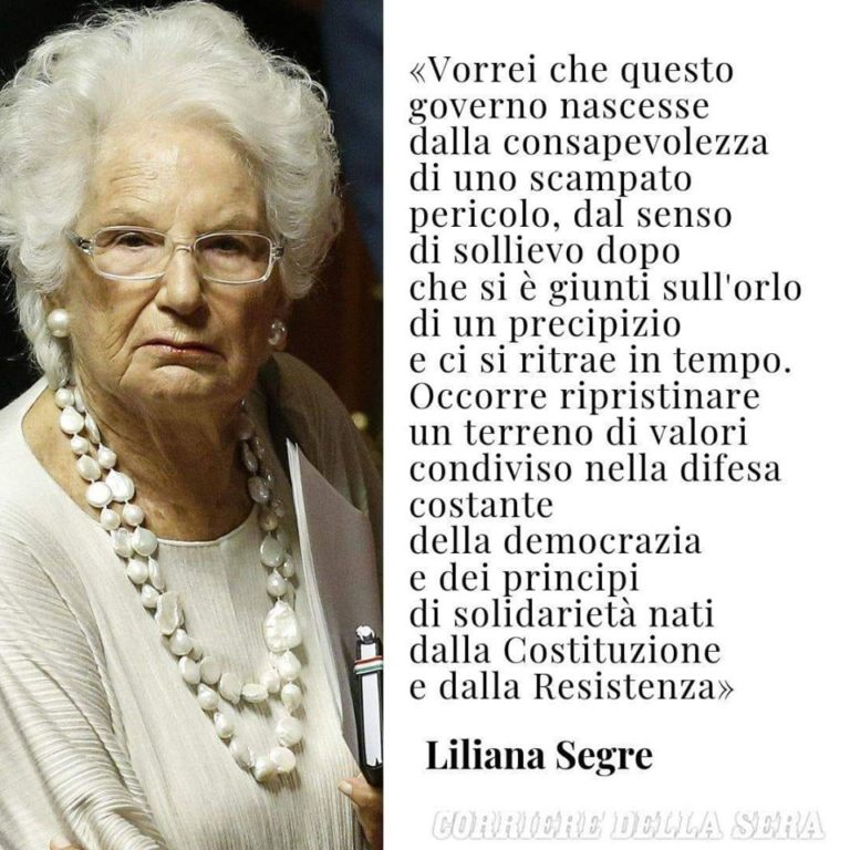 Auguri alla senatrice Liliana Segre: le sue parole monito contro l'intolleranza