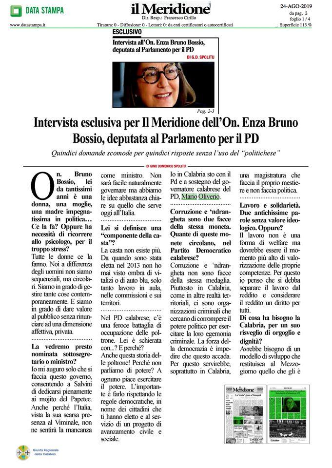 Intervista su Il Meridione